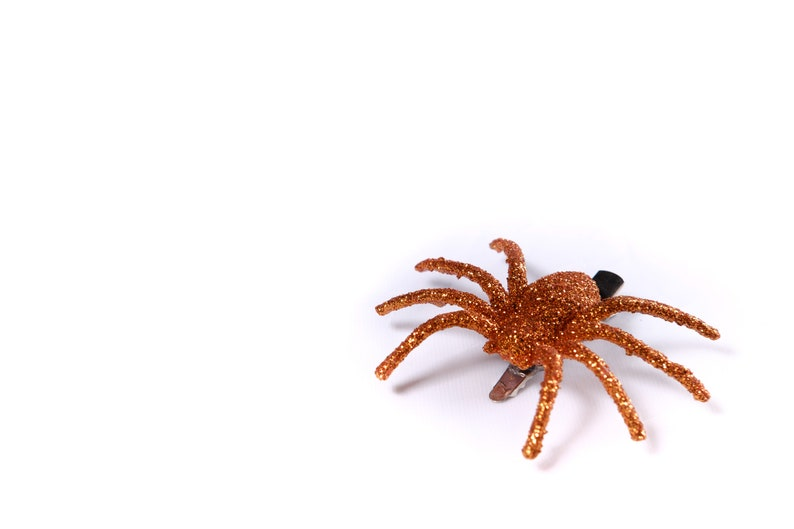 Glitter Spider Hair Clips By The Countess Craft