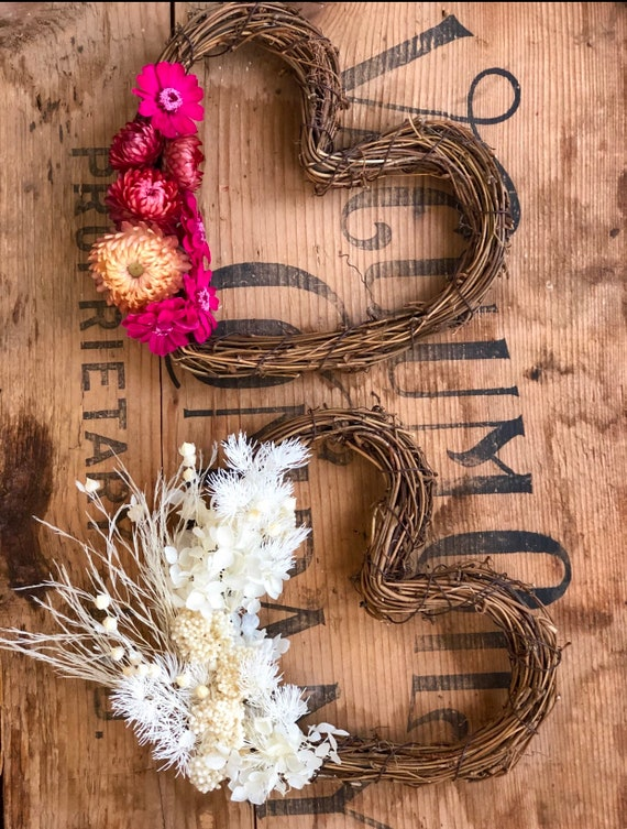 A blooming heart wreath
