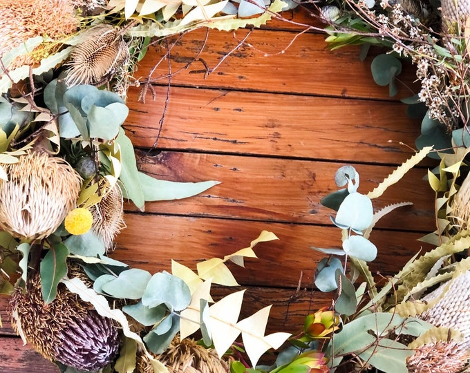 Featured listing image: An Everlasting Banksia Wreath