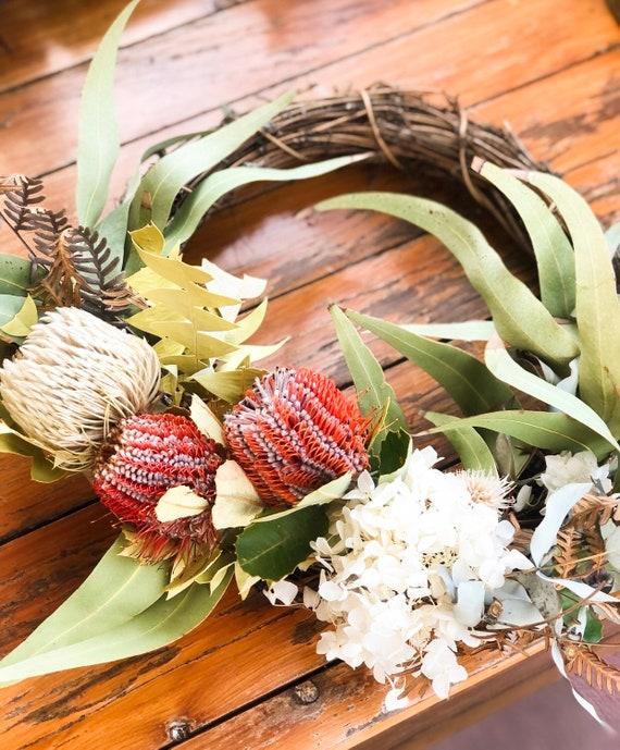 A Gum Leaf Retreat Wreath