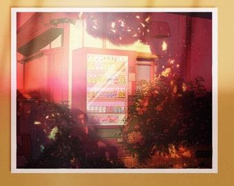 Summer Nights Art Print A5 - Beautiful Illustration - Sunset Vibes