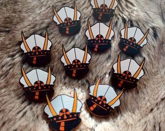 One Piece Sasaki Holzpins - Flying Six Sasaki - Fan Merch