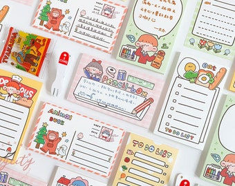 note sheets scrapbook cute memo sheets reminder bujo planner journal Plants memo sheets