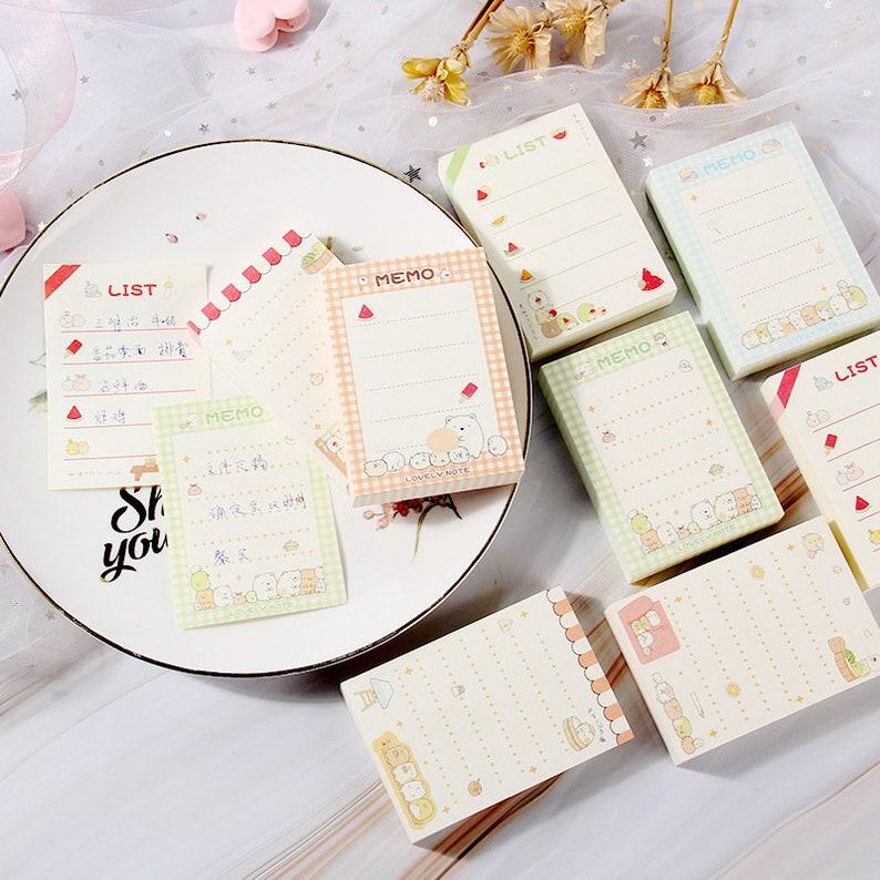 Note paper Kawaii Stationery gift Cute Sweet Sumikko Gurashi 100 Sheets Memo Pad Kawaii memo sheets Scrapbook paper Journal Planner