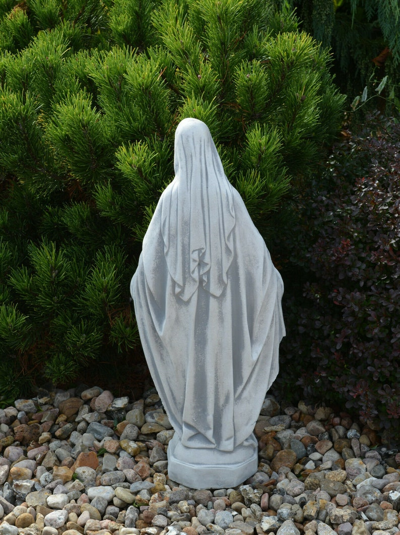 Religious Decoration Concrete Mary Mother of God Concrete Statue Of Mary Religious Statue Statue For Home And Garden Decor Hand Made