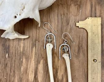 Coyote Foot Bone Earrings