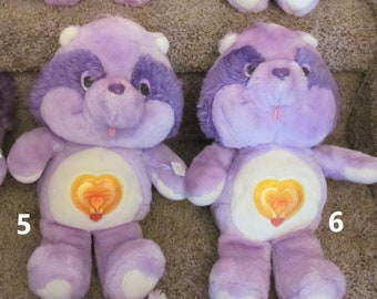 Bright Heart Raccoon Care Bears Cousins Kenner Stuffed Animal 1984 Vintage