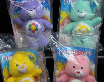 Pick Your Own - Care Bears Burger King Unopened Plush Clip On Toy Ornament: Harmony Bear, Wish Bear, Cheer Bear and Funshine Bear 2005