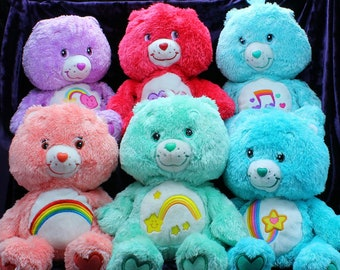 """Pick Your Own - Care Bears 12"""" Fluffy Floppy Bears: Work of Heart, Tenderheart, Thanks-a-Lot, Always There, Heartsong, Love-a-Lot and MORE!"""