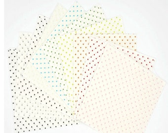 Le Creme Swiss Dot - 5 inch Stacker - Curated Bundle - 10 Colors of Riley Blake Designs Fabric