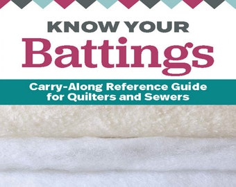Guide to Know Your Battings: Carry-along Reference Guide for Quilters and Sewers - by Krista Moser - ( L256K )
