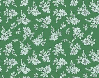 Santa Claus Lane Collection - Green - Poinsettias - by Melissa Mortenson of Polka Dot Chair for Riley Blake Designs - ( C9611-GREEN )