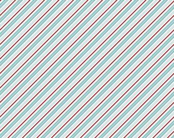Santa Claus Lane Collection - Bearlake - Diagonal Stripes - by Melissa Mortenson for Riley Blake Designs - ( C9616-BEARLAKE )