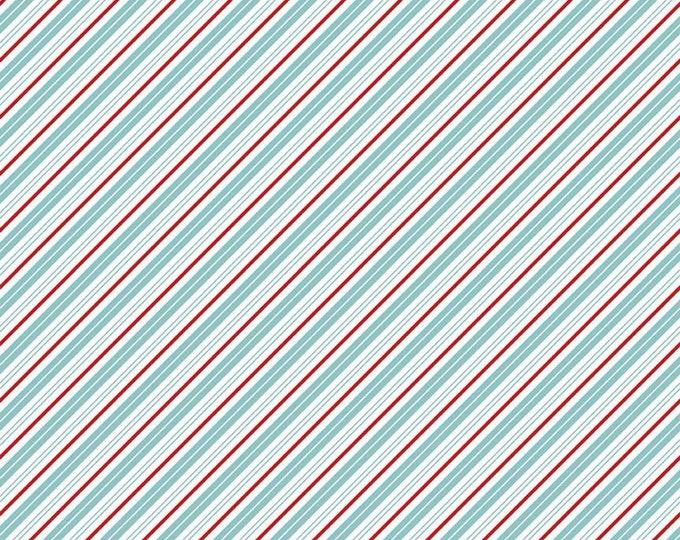 Bear Lake - Stripes - Diagonal - Santa Claus Lane Collection - by Melissa Mortenson for Riley Blake Designs( C9616-BEARLAKE )
