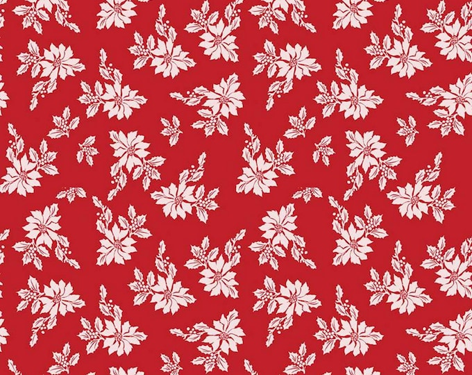 Red - Poinsettias - Santa Claus Lane Collection - By Melissa Mortenson of Polka Dot Chair for Riley Blake Designs - ( C9611-RED )