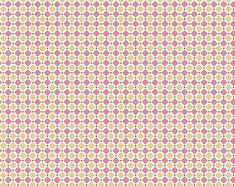 Cozy Christmas Collection - Pink - Square - Quilting Fabric - by Lori Holt of Bee in My Bonnet for Riley Blake Designs - ( C5366-PINK )