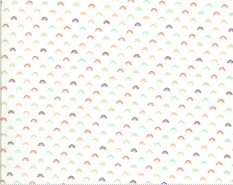 Shine On Collection - White - Over the Rainbow - Quilting Cotton Fabric - by Bonnie and Camille - Moda - ( 55218-WHITE )
