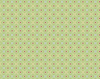 Cozy Christmas Collection - Green - Wrapping Paper - Quilting Fabric - by Lori Holt of Bee in My Bonnet for Riley Blake - ( C5367-GREEN )