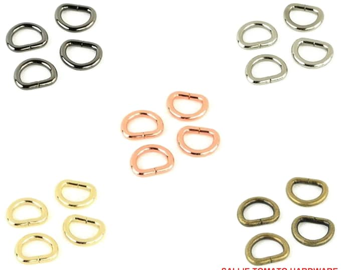 """D-Rings - 1/2"""" inch - .5"""" inch - 12mm - by Sallie Tomato - Handbag - ( STS104 )"""