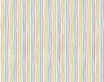 Tiny Treaters Collection - Multi - Stripe - Quilting Cotton Fabric - by Jill Howarth  for Riley Blake Designs ( C10486-MULTI )