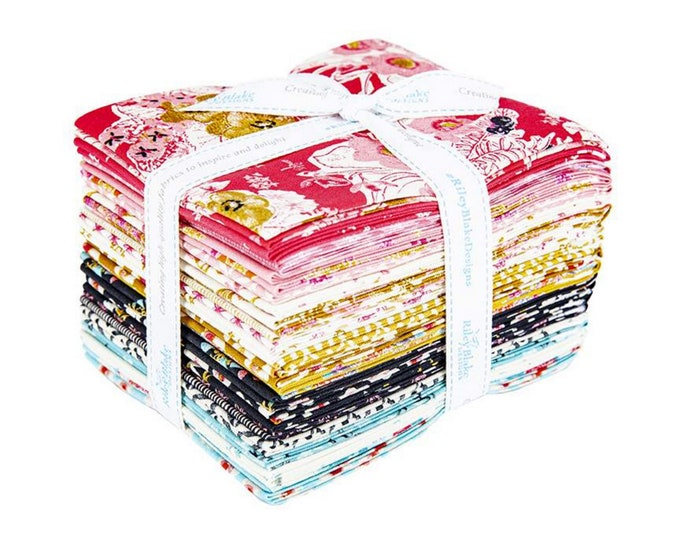 Faith, Hope, & Love - Fat Quarter Bundle - 21 Fabrics - Quilting Fabric - by Sue Daley for Riley Blake Designs - ( FQ-10320-21 )