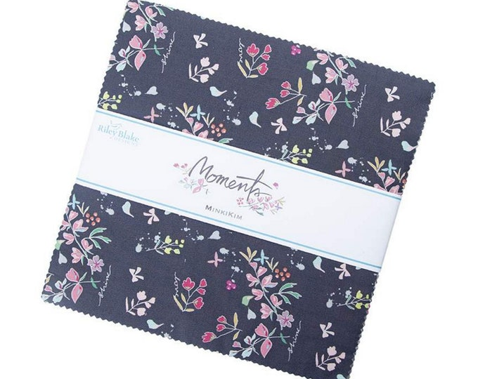 """Moments Collection - 10"""" inch Stacker Bundle - Quilting Cotton Fabric - Minki Kim for Riley Blake Designs - (10-9010-42 )"""