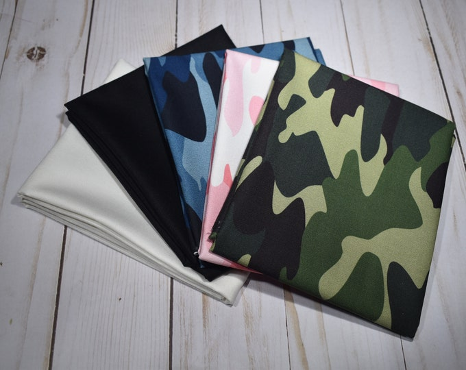 Camouflage - 5 -Fat Quarters - Curated Bundle - Riley Blake Designs - Quilting Cotton Fabric - ( CAMO-FQ-1 )
