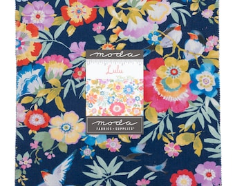 """Lulu Collection - 10"""" Inch Stacker - 42 Pieces - 10"""" x 10"""" - Layer Cake - Quilting Fabric - by Chez Moi - Moda - ( 33580LC )"""