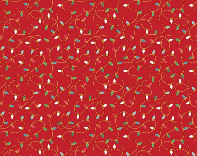 Red - Christmas Lights Sparkle - Santa Claus Lane - Melissa Mortenson of Polka Dot Chair for Riley Blake Designs - ( SC9614-RED )