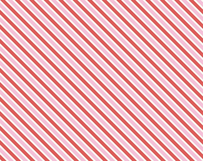 Pink - Stripes - Red, Pink, & White - Cottage Mama Collection - by Lindsay Wilkes for Riley Blake Designs ( C8864-PINK )
