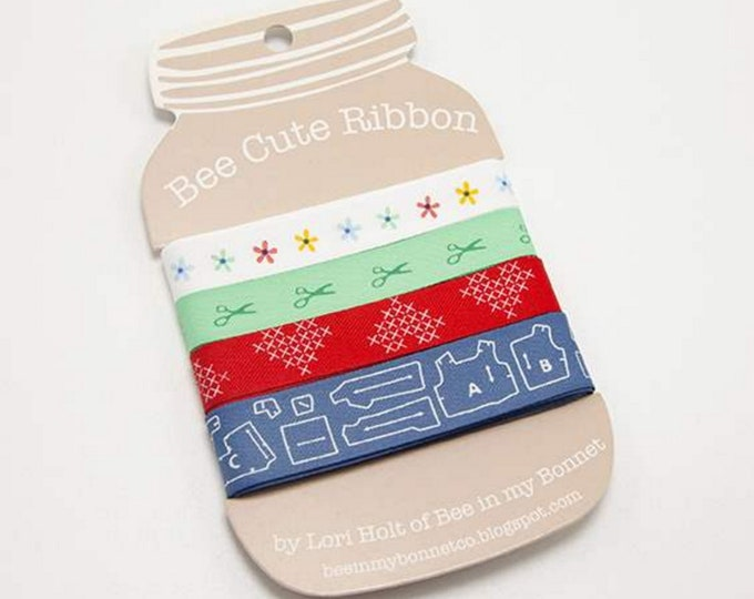 Happy Ribbon Card - Lori Holt of Bee in My Bonnet for Riley Blake Designs - ( STDR-8083-RC )