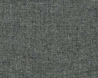 Essex - Black - Ebony - Yarn Dyed w/Metallic - Linen Cotton - by Robert Kaufman - ( E105-EBONY )
