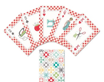 Cards - Playing Cards - My Happy Place - Lori Holt of Bee in My Bonnet for Riley Blake Designs - ( ST-19325 )