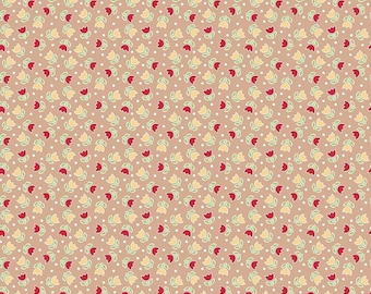 Bake Sale 2 Collection - Nutmeg - Tulip - Quilting Cotton Fabric - by Lori Holt of Bee in my Bonnet for Riley Blake - ( C6984-NUTMEG )
