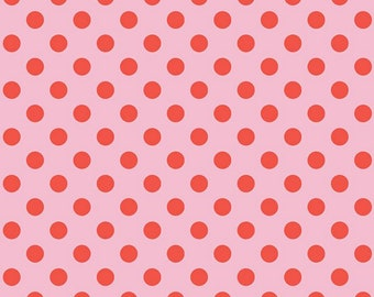 Sending Love Collection - Petunia - Pink - Dots - Quilting Cotton Fabric - by My Minds Eye for Riley Blake Designs - ( C10085-PETUNIA )