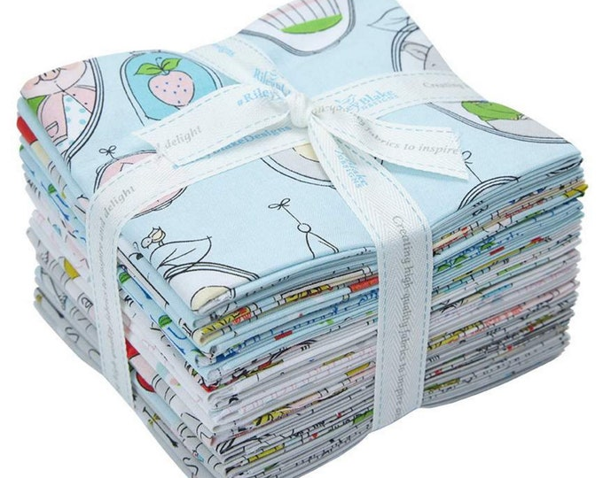 Hubert and Sorrel Collection - Fat Quarter Bundle - 18 Fabrics - Quilting Fabric - Simone Gooding for Riley Blake Designs - (FQ-9090-18 )