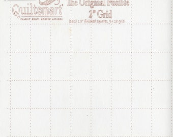 """2"""" inch - Fusible Interfacing - Grid - Quiltsmart - """" Tips in Description-PDF"""" - ( QS65027 )"""