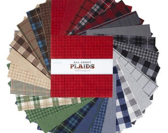 "All About Plaids Collection - 10"" inch Stacker - Quilting Cotton Fabric - Riley Blake Designs - ( 10-635-42 )"