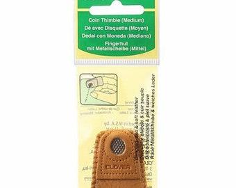 Clover - Leather Coin Thimble Medium - ( 6014CV )