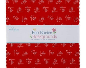 """Bee Basics - 10"""" inch Stacker - Quilting Cotton Fabric - By Lori Holt of Bee in My Bonnet for Riley Blake Designs - ( 10-6401-42 )"""