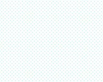 Swiss Dot on White Collection - Scuba -  Polka Dot - Quilting Cotton Fabric - Riley Blake Designs - ( C660-SCUBA )