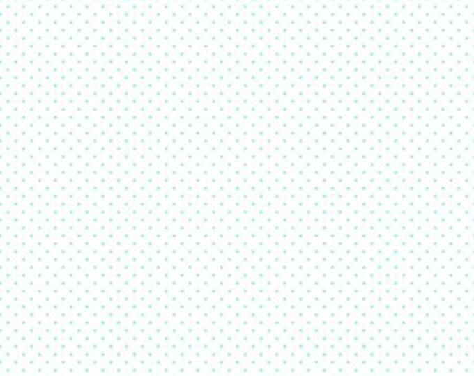 Scuba - Swiss Dot on White -  Polka Dot - Quilting Cotton Fabric - Riley Blake Designs - ( C660-SCUBA )