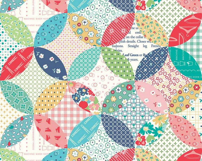 Multi - Quilted - Vintage Happy 2 - Quilting Cotton Fabric - by Lori Holt of Bee in my Bonnet for Riley Blake Designs - ( C9145-MULTI )