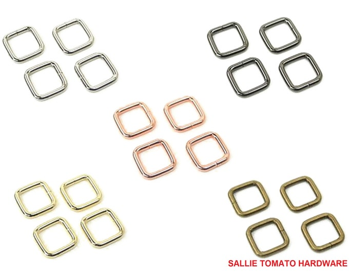 """Rectangle Ring - 1/2"""" inch - .5"""" inch - 12mm - by Sallie Tomato - Handbag - Purse - ( STS181 )"""