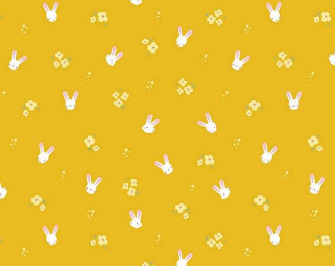Mustard - Bunnies - Easter Egg Hunt - Quilting Cotton Fabric - by Natàlia Juan Abelló for Riley Blake Designs - ( C10273-MUSTARD )