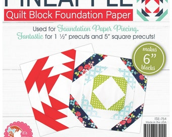 Pineapple - Block Foundation - Its Sew Emma - Paper Pad - 6in - ( ISE-754 )