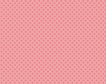 SALE - Prim Collection - Coral - Sweet - Quilting Cotton Fabric - Lori Holt of Bee in My Bonnet for Riley Blake Designs - ( 9704-CORAL )