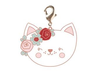 Zipper Pull Charm - Kitty - Enamel - ( PCNZPC201905 )