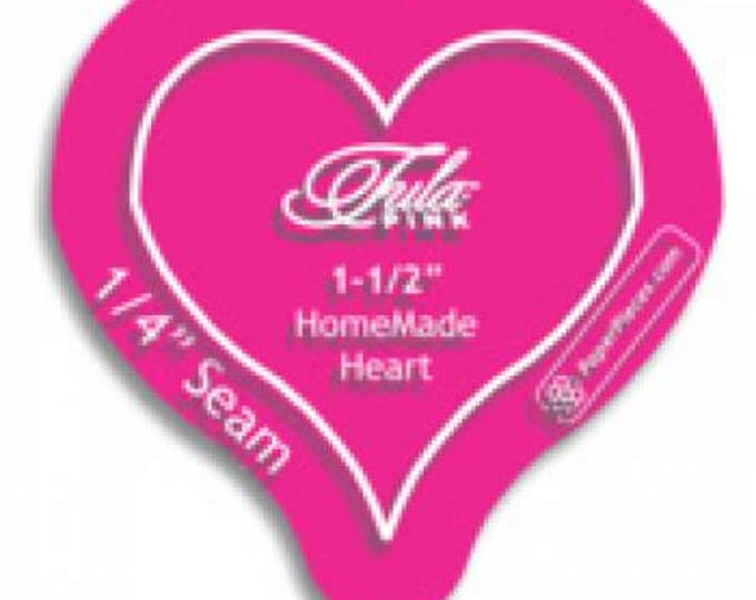 "Heart - Acrylic Template - 1.5"" inch 1-1/2""  inch with 1/4in Seam Allowance - Acrylic Fabric Cutting Template - ( HEART150 )"
