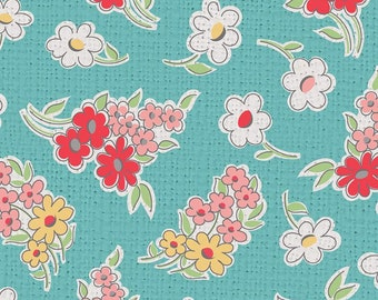 My Happy Place Collection - Cottage - Floral - Home Décor - Lightweight Canvas - by Lori Holt of Bee in my Bonnet - ( HD9313-COTTAGE )